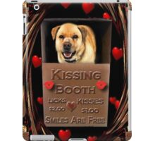 KISSES COME AND GET YOUR KISSES-CANINE-DOG KISSING BOOTH-PILLOW-TOTE BAG-IPHONE CASE-TABLETS iPad Case/Skin