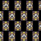 Mustache Panda 3 (Pattern 6) by Adamzworld