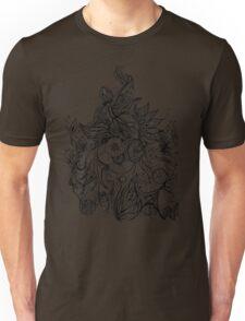 Zen Doodle 3A Black Ink Unisex T-Shirt