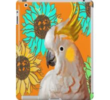 7 DAYS OF SUMMER- ART TOTES AND PILLOWS-COCKATOO IN ORANGE iPad Case/Skin