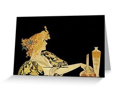 Nouveau Woman with Paintbrush  Greeting Card