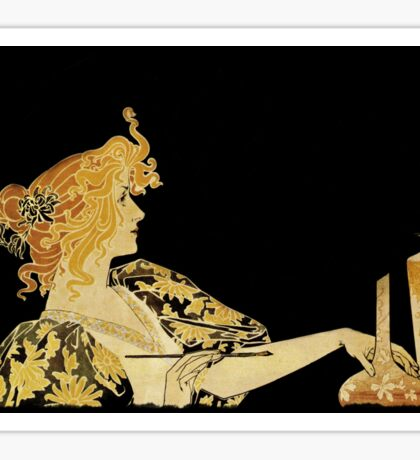 Nouveau Woman with Paintbrush  Sticker