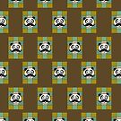 Mustache Panda 4 (Pattern 2) by Adamzworld