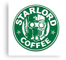 Star-Lord Coffee Canvas Print