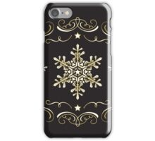 Ornate Snowflake Pattern - Black 1 iPhone Case/Skin