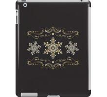 Ornate Snowflake Pattern - Black 1 iPad Case/Skin