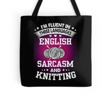 English, Sarcasm And Knitting Tote Bag