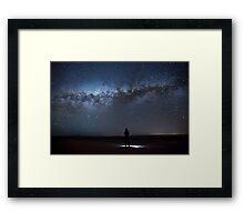Alone at Atacama Framed Print