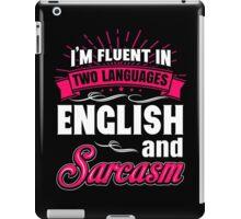 Funny English And Sarcasm  iPad Case/Skin