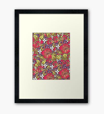 Kaffir Lily and Lantana Framed Print