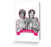 Jessica Lange and Meryl Streep  Greeting Card