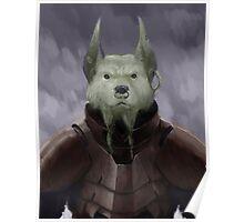 Space Devil Dog Poster