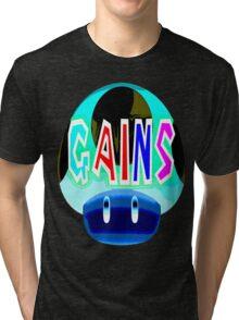 gains psychadelic work out shirt Tri-blend T-Shirt