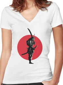 Bounty Hunter Samurai Women's Fitted V-Neck T-Shirt
