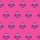 Purple & Purple Owl (Pattern 2) by Adamzworld
