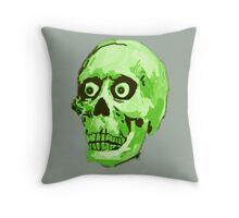 CREEP II (green) Throw Pillow
