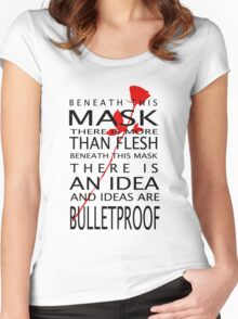 Bullet-Proof Ideas Women's Fitted Scoop T-Shirt
