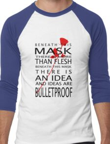 Bullet-Proof Ideas Men's Baseball ¾ T-Shirt