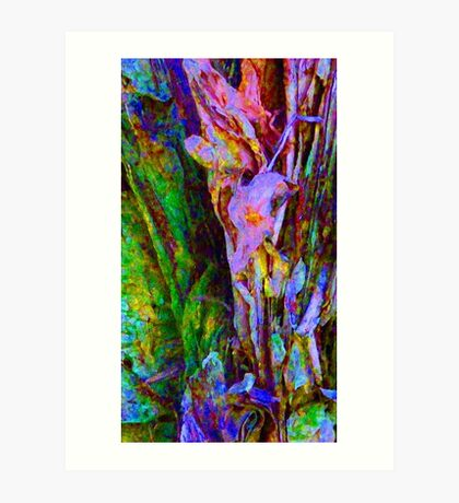 Spring Paperbark Tree Abstract Art Print