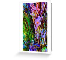 Spring Paperbark Tree Abstract Greeting Card