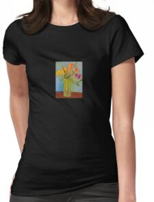 Flowers in a Vase Womens Fitted T-Shirt