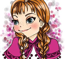 Anna of Arendelle (chibi version) by Reinafashion