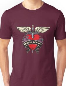 NICE!! BON JOVI RED HEART Unisex T-Shirt