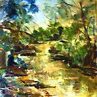 Gone Fishing, King Parrot Creek, Strath Creek Victoria Australia by Margaret Morgan (Watkins)