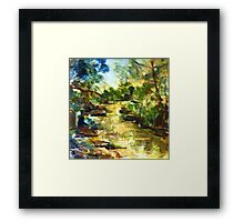 Gone Fishing, King Parrot Creek, Strath Creek Victoria Australia Framed Print
