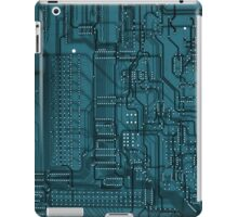 Blue Circuit iPad Case/Skin