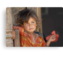 A young boy from Nepal  Metal Print