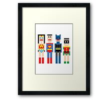 Justice League Squared MKi Framed Print