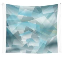 Abstract blue geometric pattern Wall Tapestry