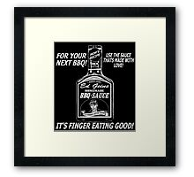 EF GEIN BOTTLE BBQ SAUCE Framed Print