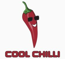 Cool Chilli - Red Hot Pain Burn Food Yum - Toon T-Shirt Sticker One Piece - Short Sleeve