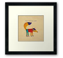 Monsieur Renard, Mister Fox Framed Print