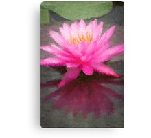 The Water Lilly Reflection Canvas Print