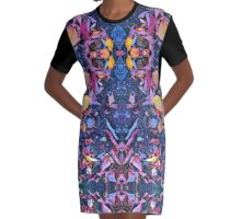 Origami Graphic T-Shirt Dress