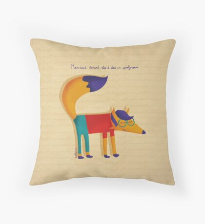Monsieur Renard, Mister Fox Throw Pillow