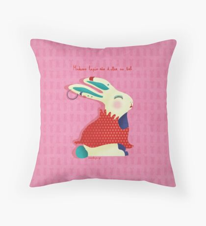 Madame Lapin, Madam Rabbit Throw Pillow
