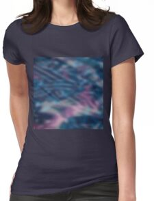 Abstract blurring background Womens Fitted T-Shirt