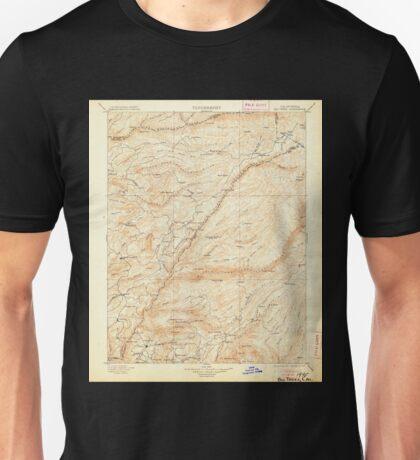 USGS TOPO Map California CA Big Trees 299218 1901 125000 geo Unisex T-Shirt