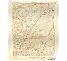 USGS TOPO Map California CA Big Trees 299218 1901 125000 geo Poster
