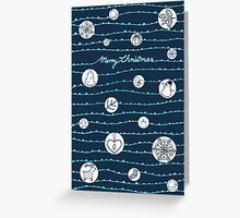 "Weihnachtskarte ""Merry Christmas"" mit Icons, dunkelblau - Version 2 Greeting Card"