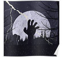 Hand from the earth Poster