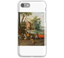 Allegorie der Tulipomanie [Allegory of Tulip Mania], by Jan Brueghel the Younger iPhone Case/Skin