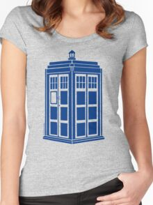Colour Me Tardis Women's Fitted Scoop T-Shirt