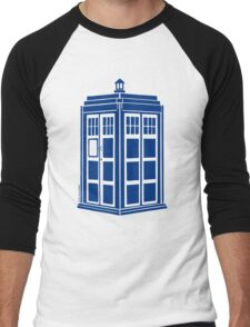Colour Me Tardis Men's Baseball ¾ T-Shirt