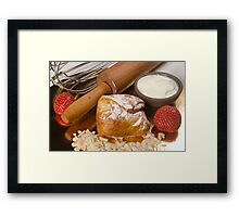 Sweet puff pastry filled with cheese  Framed Print
