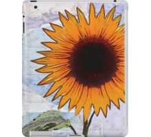 Fantasy Sunflower with Blue Paper Texture iPad Case/Skin